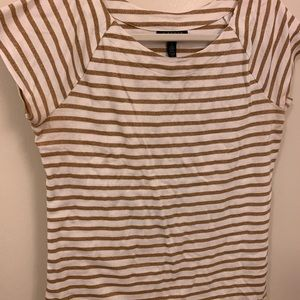 Ralph Lauren gold & white striped tee size XL